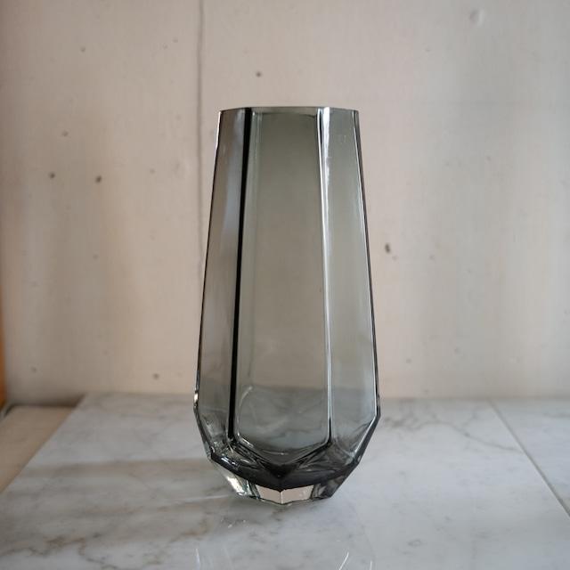 グレイガラス フラワーベース S