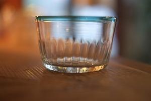 【カンナカガラス工房◆村松学】◆デザートカップ◆口巻浅葱色◆初入荷◆NEW◆