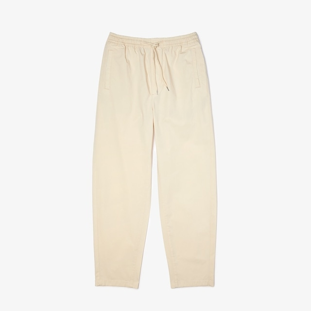 LACOSTE COTTON POPURIN EASY PANTS IVORY
