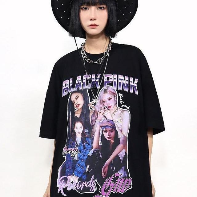 【トップス】男女兼用アイドル半袖ストリート系図柄暗黒系Tシャツ48456126