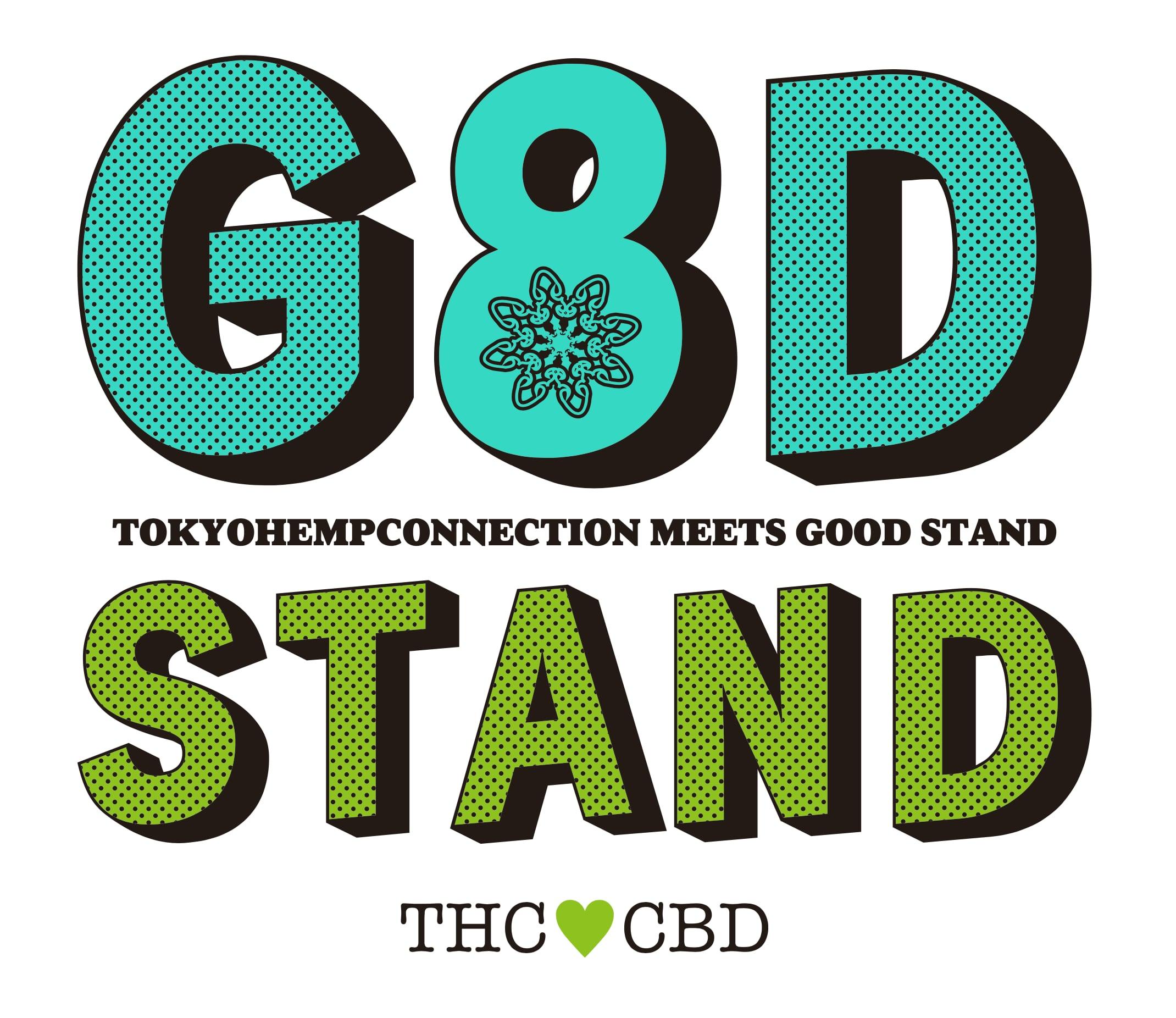 G8DSTAND × Q's design studio TOKYOHEMPCONNECTION*THC  -LIMITED EDITION TEE-