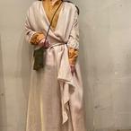 【hippiness × Sakurako.】cupro folkdress(pussy willow)/ 【ヒッピネス × サクラコ.】キュプラ フォークドレス(猫柳)