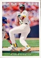 MLBカード 93UPPERDECK Jerry Browne #129 ATHLETICS