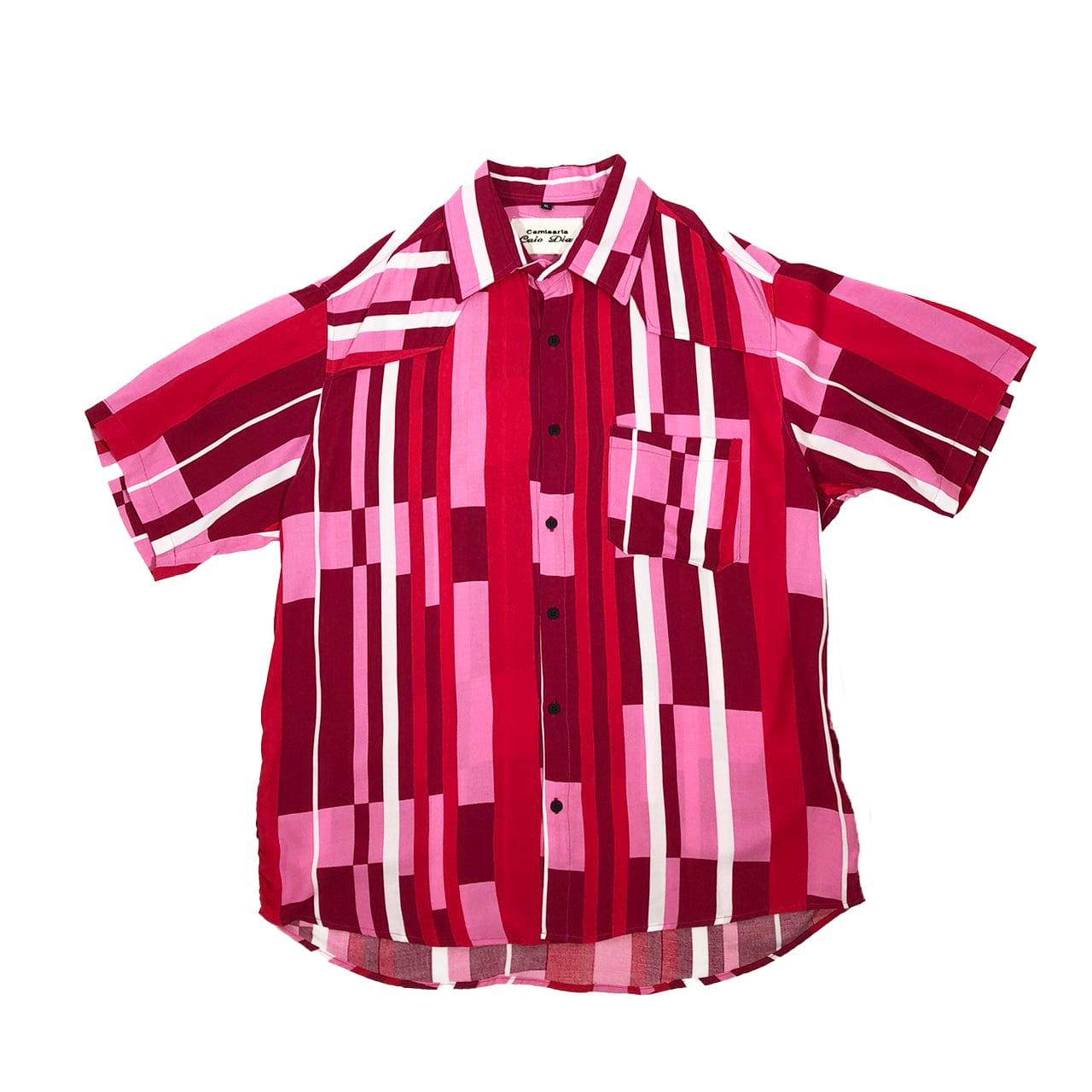 Caio Dias_Viscose Print Shirt:Pink