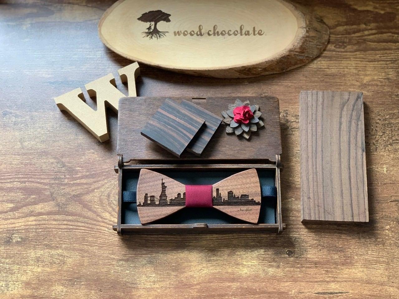 「NYの街並み」木製 蝶ネクタイ #CityContrast NY - 画像3