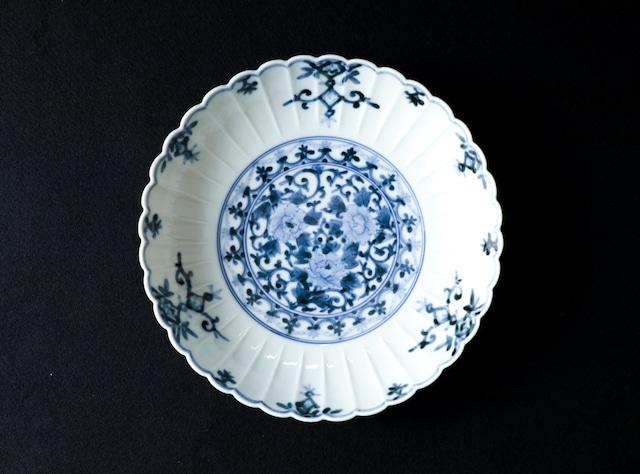 ■山本長左  :  牡丹唐草瓔珞文 皿