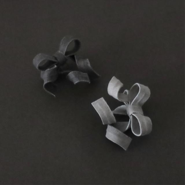 オーガニックコットン/変形リボンブレスレット/W-1_IV
