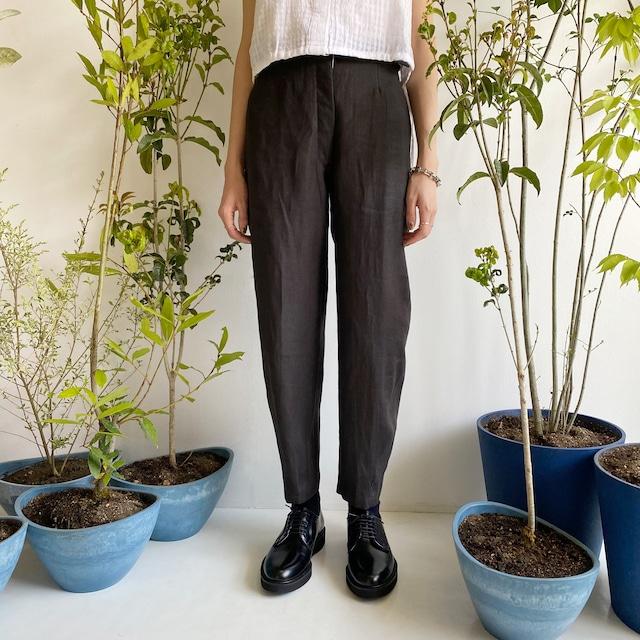 "High waist pants ""Black kassis"" natural dyed"