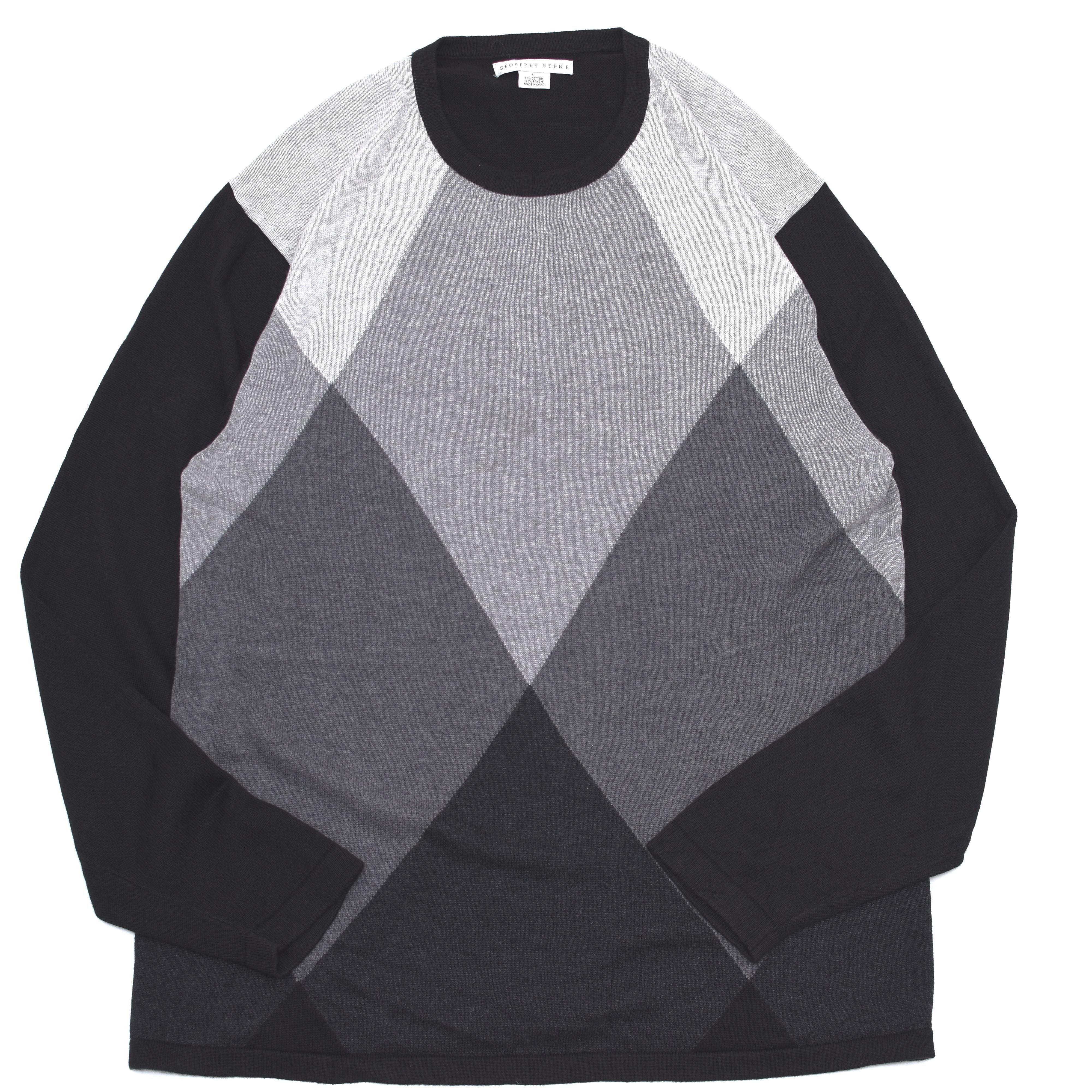 Diamond pattern cotton×rayon design Knit
