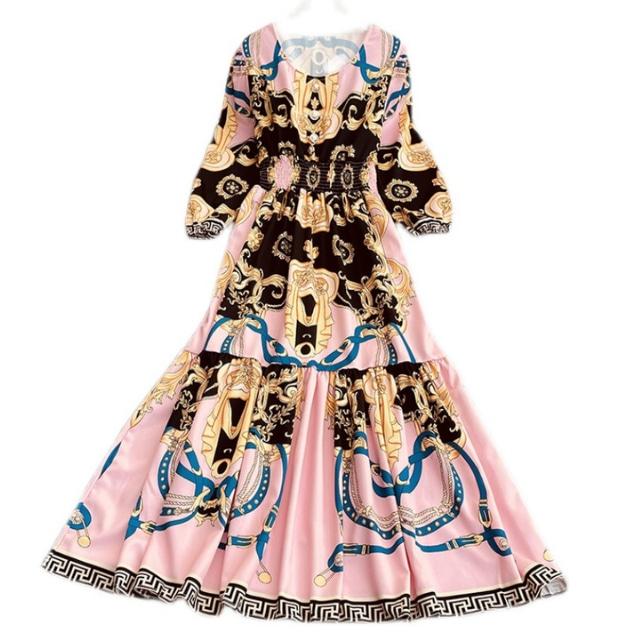 パレス スリミング ロング ドレス【R0990】