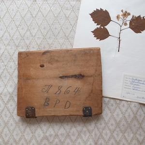 スウェーデン 19世紀 押し花用押し板