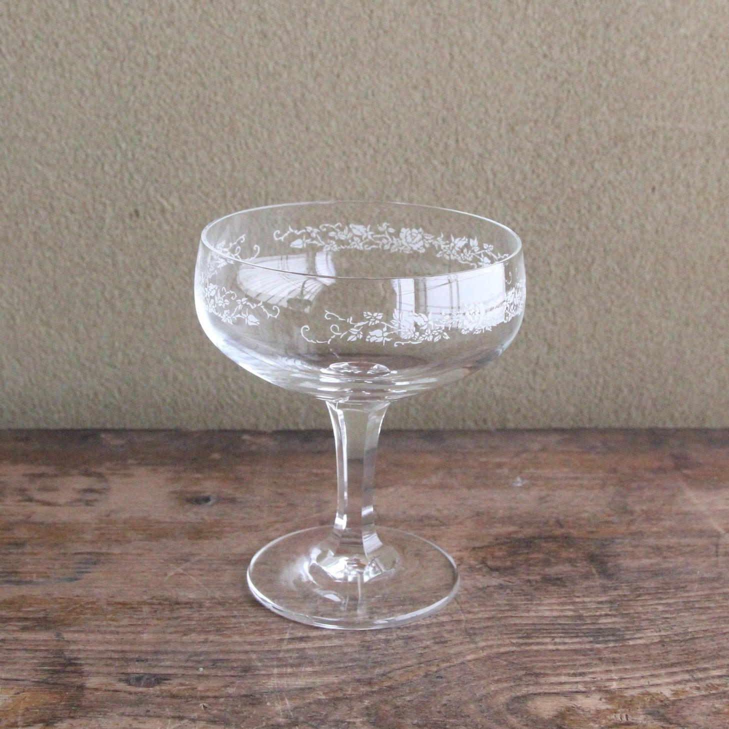 クリスタルガラス デザートグラス 在庫3客