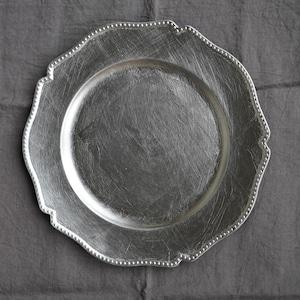 チェンジャ―プレート 花びら型シルバー