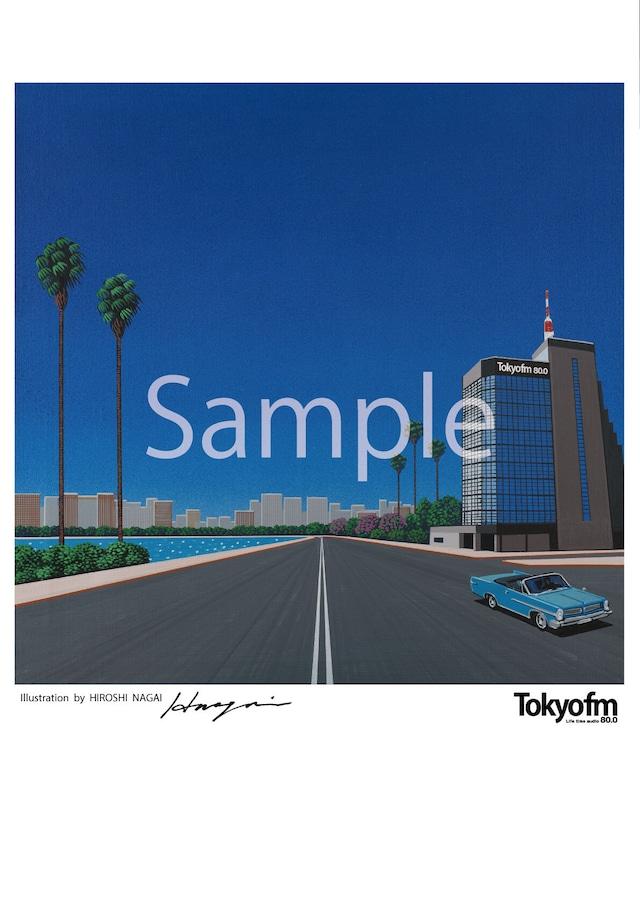 《送料無料》hiroshi nagai × RADIO VACATION_CITY POP<A2サイズポスター>