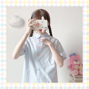 【お取り寄せ】3連うさちゃん 半袖 Tシャツ 2色