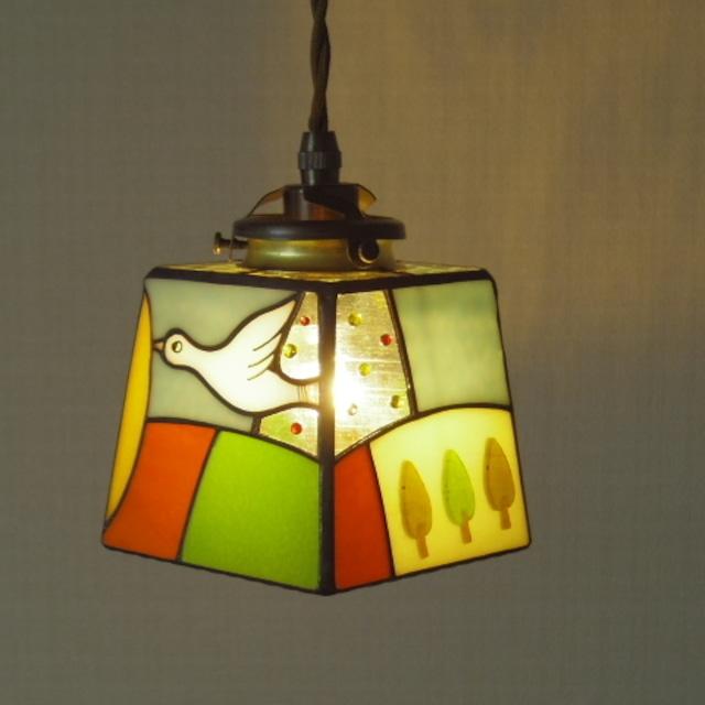 ペンダントランプ「 小さな旅する鳥 1」