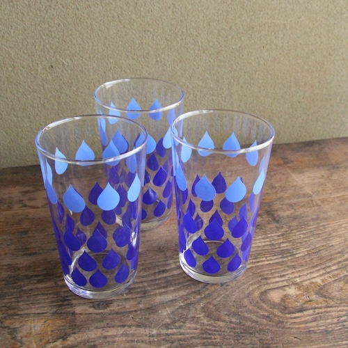 佐々木ガラス 水玉レトロなグラス 在庫4客