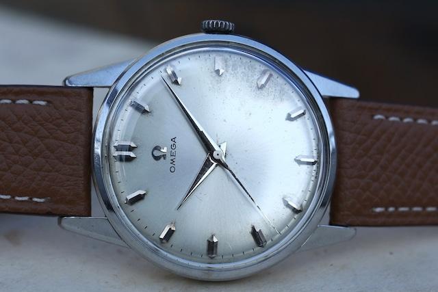 【OMEGA】 1960's 30mmキャリバー 砲弾インデックス エイジングダイヤル 手巻き  OH済み  / Vintagewatch / Cal.285