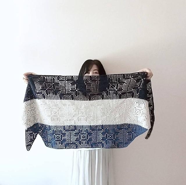 中井チコさんYoutube「モチーフが何かになるまで nanikaショール」ラムズウール 毛糸セット