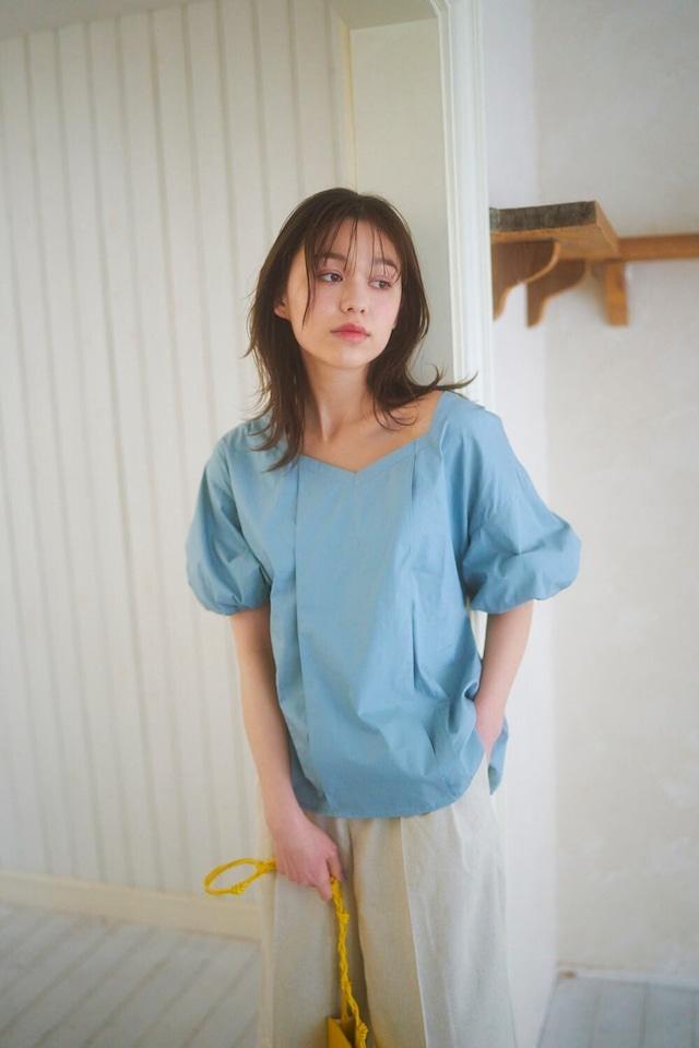 SAORI TANABE コラボ puff sleeve blouse
