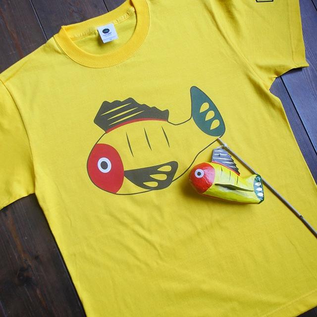 【送料無料】黄ぶなTシャツと黄ぶな張子セット【疫病退散シリーズ】
