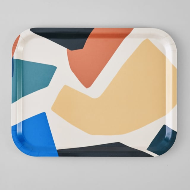 WRAP / Mosaique Rectangle Art Tray -Illustrated by Antti Kekki-