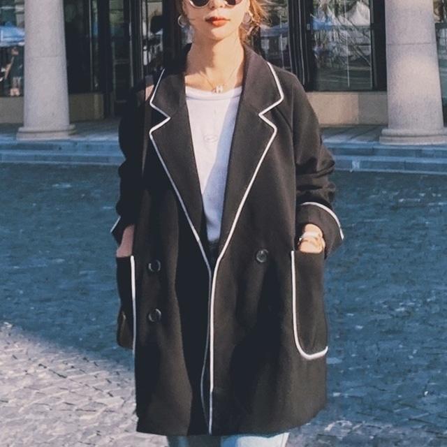 レディースジャケット シンプル デザイン 上品  使いやすい 楽ちん キレイ キマる ジャケット アウター レディース ライン シルエット おしゃれ 通勤 オフィス デイリー ブラック レッド