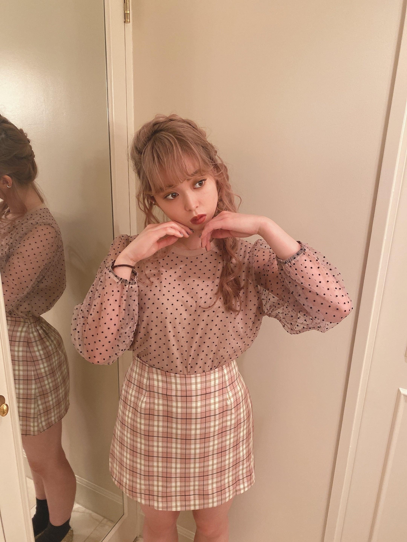 Aline check culotte skirt
