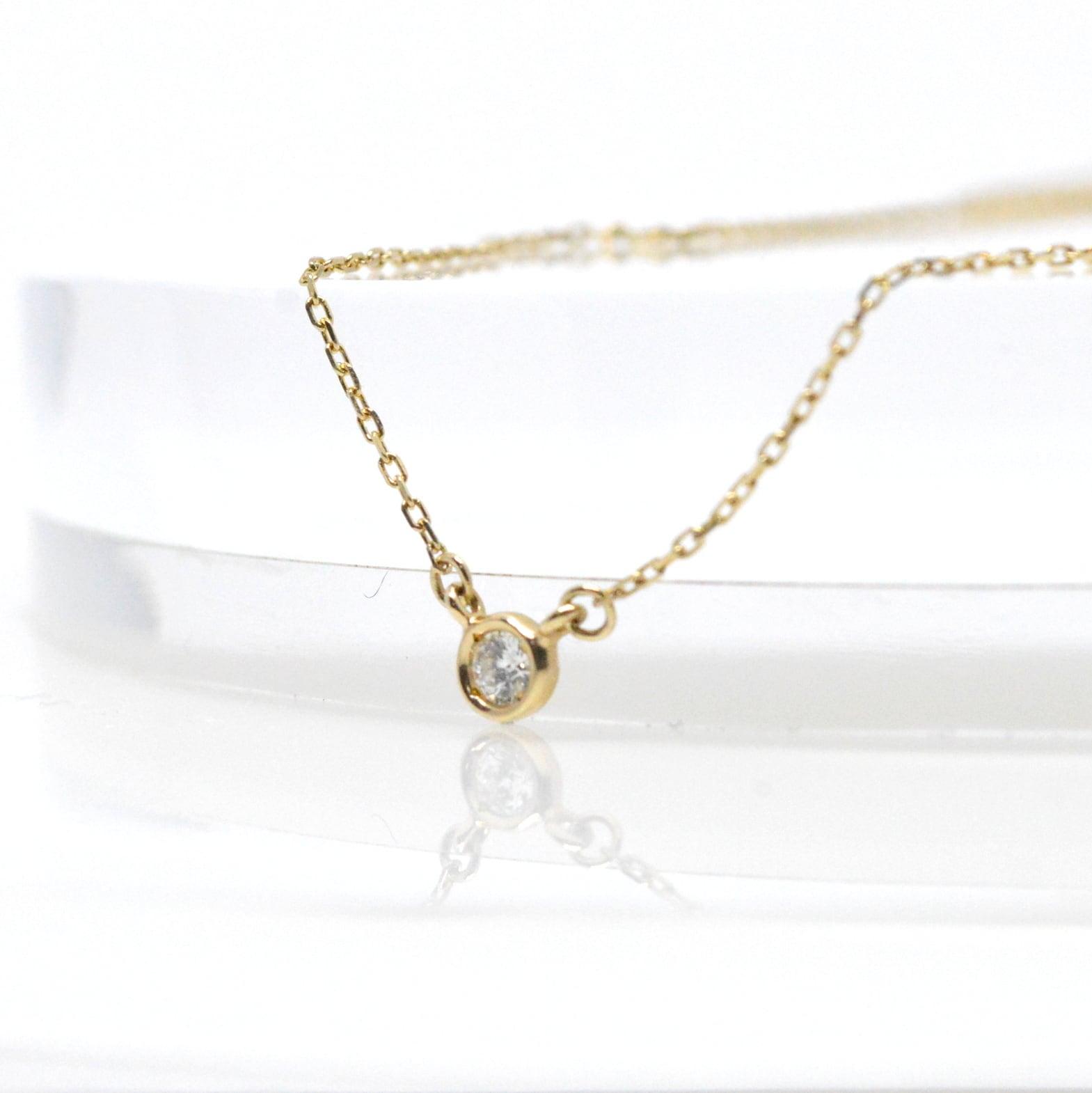 K10 Diamond Necklace 0.05ct