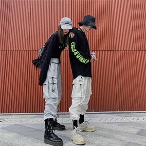 2759レディース カーゴパンツ ダンスパンツ 衣装 ヒップホップダンスウェア 原宿系 カジュアルパンツ ロングパンツ ストリート 男女兼用