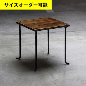 IRON BAR SIDE TABLE[BROWN COLOR]サイズオーダー可