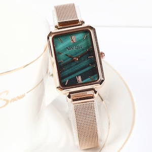 大人の定番 スクエア シンプル 気質満点 メタルベルト 合わせやすい レディース 腕時計 <ins-2058>