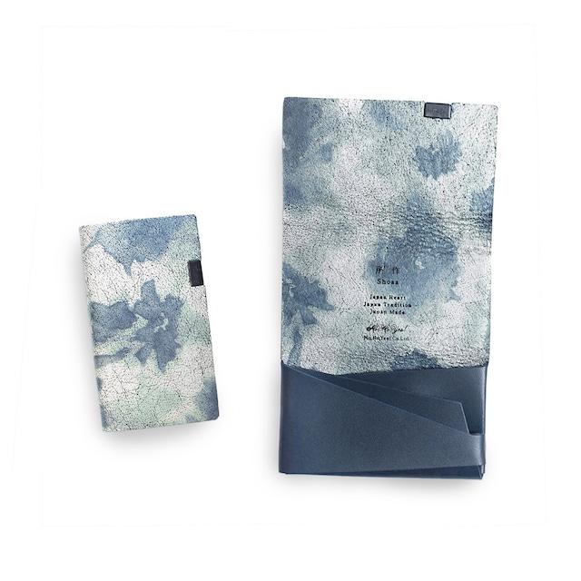 睡蓮画  フローラル (&ネイビー) カードケース