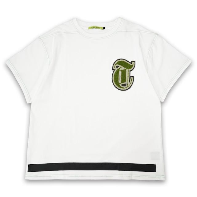 T.C.R CHENILLE LOGO S/S TEE - WHITE