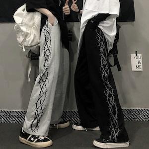 【ボトムス】ストリート韓国系ファッション図柄パンツ42916296