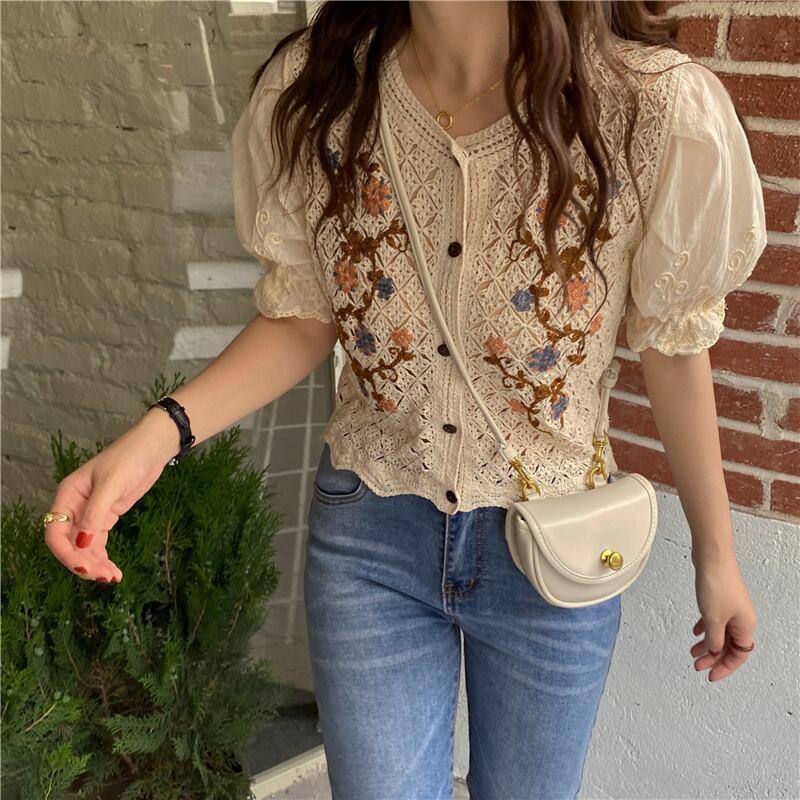 Crochet Floral Blouse