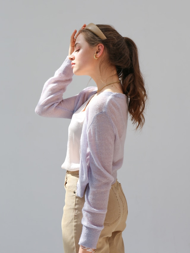 spring mohair cardigan(lavender)