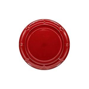 Koyo ラフィネ リムプレート 皿 約17.5cm ヴィンテージレッド 15944107