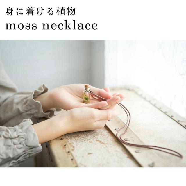 【身に着ける植物・苔アクセサリー】moss necklace
