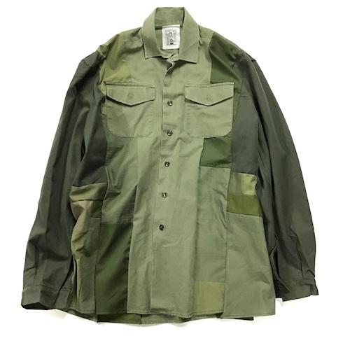 【Lsize】 REMAKE  MILITARY SHIRTS ミリタリーシャツ【Shirts47】