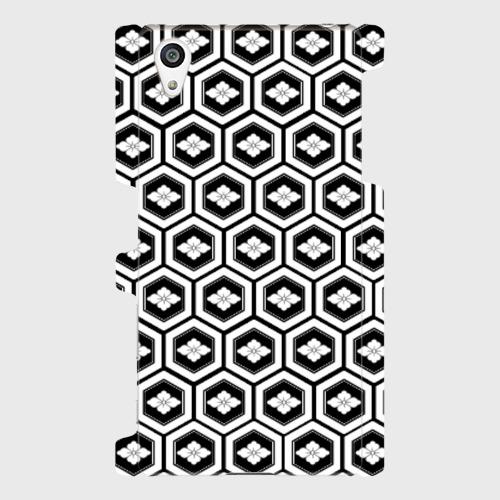 家紋模様、亀甲に花菱(直江兼続) / Androidスマホケース(ハードケース)