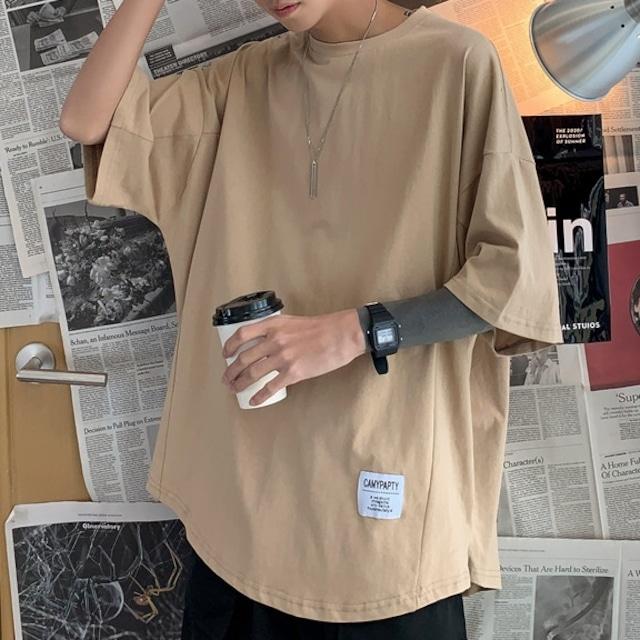 【メンズファッション】人気新作 カジュアル プルオーバー 五分袖 ラウンドネック 無地 韓国系メンズ Tシャツ49153859