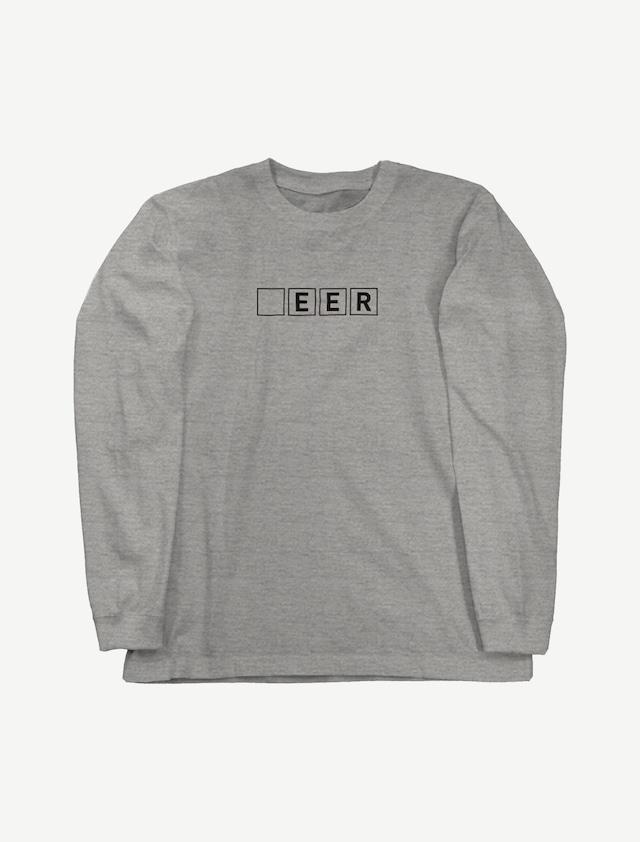 【□EER】ロングスリーブTシャツ(ミックスグレー)