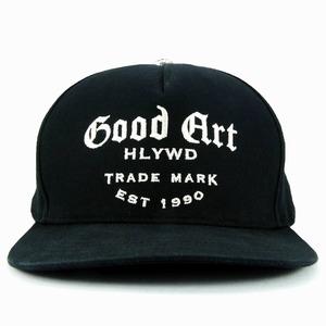 キャップ w/スナップ ブラック ロゴ ソリッド バック :Good Art HLYWD グッド アート ハリウッド