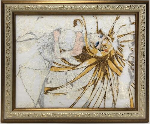 キャラ縫い額装刺繍 王女シャッフル「純白ドレスの王女」