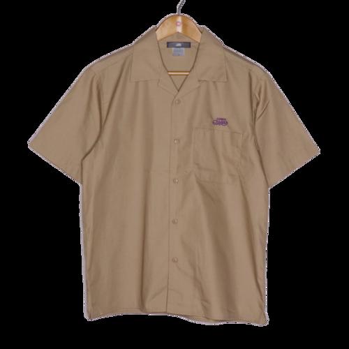 T/Cツイルオープンカラー半袖シャツ / ベージュ   SINE METU