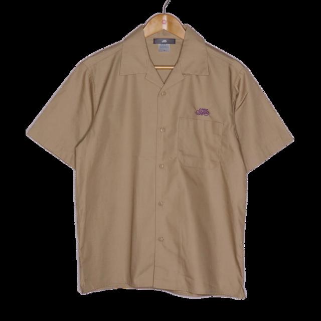 T/Cツイルオープンカラー半袖シャツ / ベージュ | SINE METU