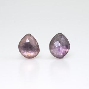 Purple tourmaline mirror earring / Single