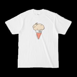 うさぎとアイスTシャツ