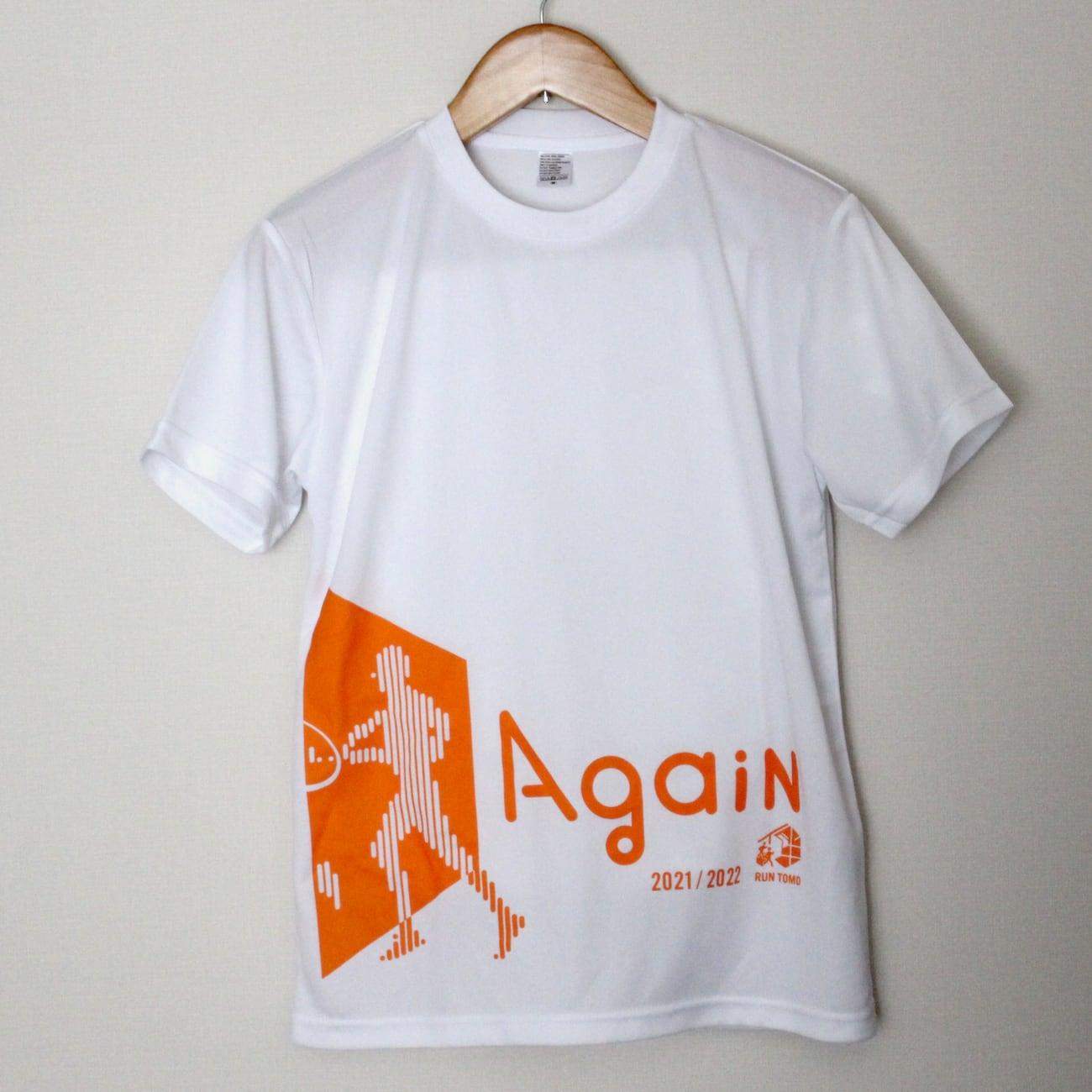 RUN伴2021/2022 公式Tシャツ(ホワイト/Again)